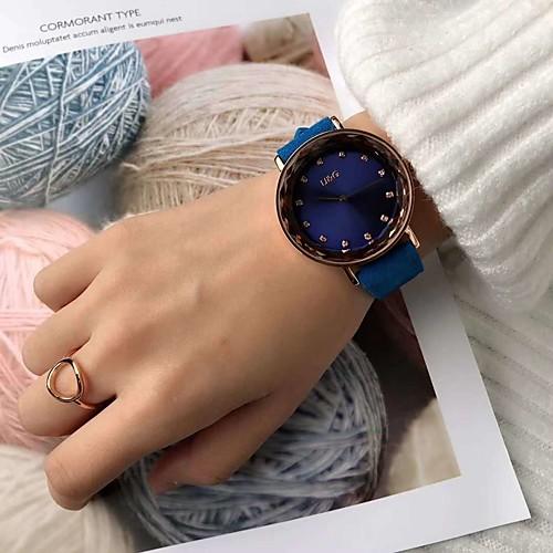 Жен. Механические часы Кварцевый Натуральная кожа Защита от влаги Аналоговый Мода - Лиловый Красный Синий / Нержавеющая сталь