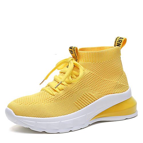Жен. Полиуретан Лето / Осень На каждый день Спортивная обувь Микропоры Белый / Черный / Желтый