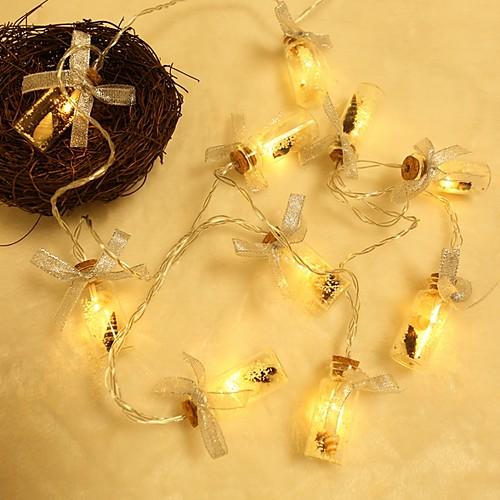2м Гирлянды 10 светодиоды Тёплый белый Декоративная Аккумуляторы AA 1 комплект