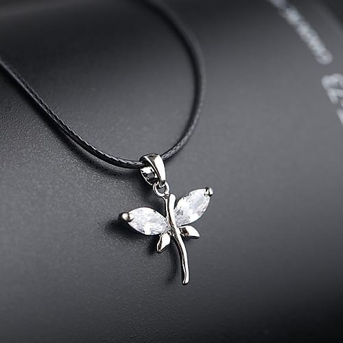 Жен. Серебро Ожерелья с подвесками Циркон Серебряный 36 cm Ожерелье Бижутерия 1шт Назначение Свадьба Подарок