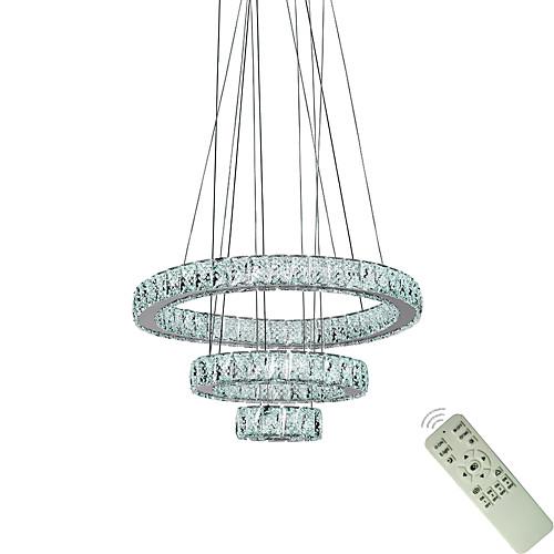 Современная светодиодная гостиная столовая подвесные светильники подвесной светильник подвесное кольцо хрустальные люстры светильники светильники 110-120 В / 220-240 В