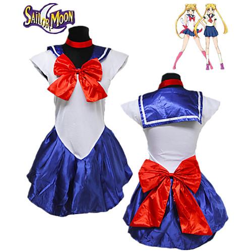 Вдохновлен Sailor Moon Косплей Аниме Косплэй костюмы Косплей Костюмы Однотонный Без рукавов Платье / Перчатки / Головные уборы Назначение Жен.