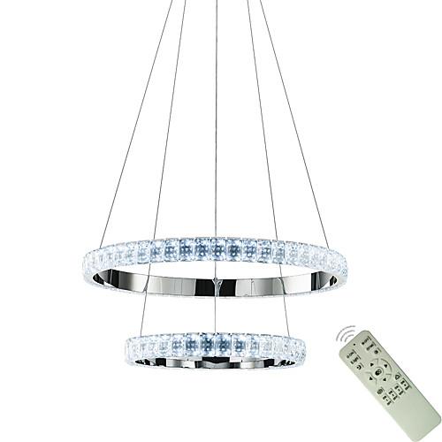 круглое кольцо хрустальные люстры современная столовая лампа подвесные подвесные светильники подвесные светильники круг освещение потолочные светильники комнатные светильники 110-120 В / 220-240 В