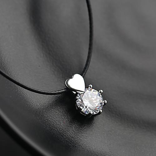 Жен. Серебро Ожерелья с подвесками Циркон Серебряный 36 cm Ожерелье Бижутерия 1шт Назначение Свадьба фестиваль