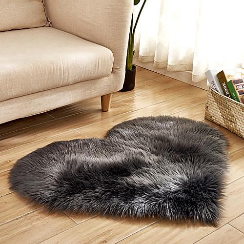 Dongguan pho_07r4 в форме сердца 40x50см любовь имитация шерсти ковер коврик напольный матрас одеяло диван подушка подушка для ног плюшевые гостиная журнальный столик диван спальня белый фото