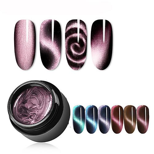 5мл магнитный 5d кошачий глаз уф-гель лак для ногтей магнит лазерный лак для ногтей лак звездное небо нефритовый эффект замочить уф-гель лак для ногтей фото