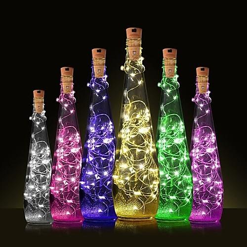 1шт Пробка бутылки вина LED Night Light Тёплый белый Украшение / Атмосферная лампа фото