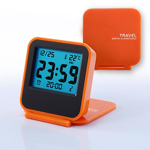 Дунгуань ph107064p563 мини портативный раскладушка путешествия электронный ночник светодиодный будильник: оранжевый фото