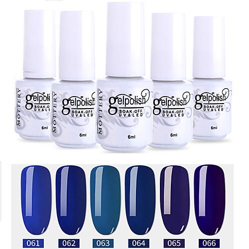 Лак для ногтей 6 шт. цвет 61-66 xyp soak-off uv / led gel лак для ногтей сплошной цвет лак для ногтей наборы фото