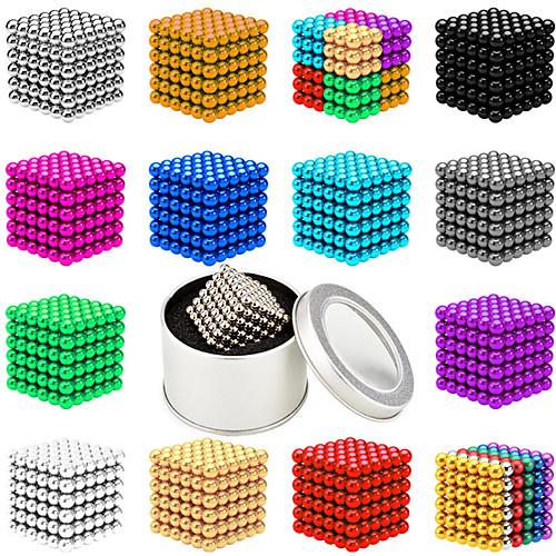 512-1000 pcs 5mm Магнитные игрушки Магнитные шарики Конструкторы Сильные магниты из редкоземельных металлов Неодимовый магнит Неодимовый магнит Магнитный / Стресс и тревога помощи фото