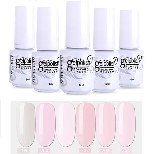 Лак для ногтей 6 шт. цвет 199-204 xyp soak-off uv / led gel лак для ногтей сплошной цвет лак для ногтей наборы фото