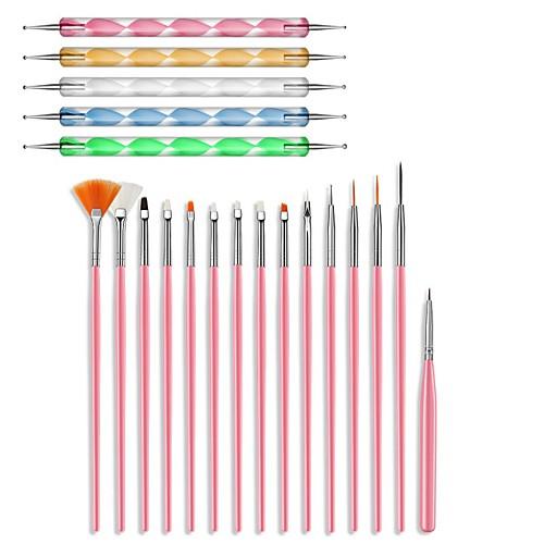 20 шт. Инструменты для ногтей кисть для рисования точечными перо для рисования ногтей кисть гель для рисования вихрем стальная точечная ручка фото