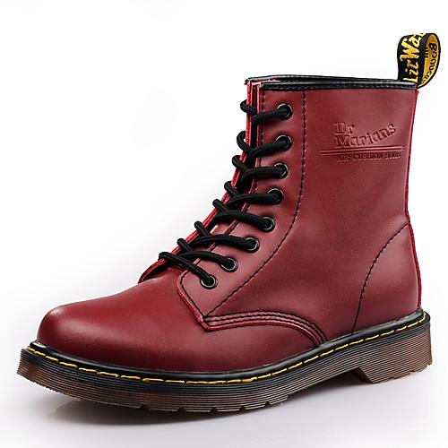 Муж. Кожаные ботинки Кожа Зима / Наступила зима Спортивные / На каждый день Ботинки Водостойкий Ботинки Черный / Винный / Темно-коричневый / на открытом воздухе / Офис и карьера / Fashion Boots фото