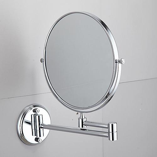 Ванная комната бесплатный пунш настенное зеркало зеркало раковина из нержавеющей стали двойное зеркало складной телескопическое зеркало ванная комната круглое зеркало для макияжа фото