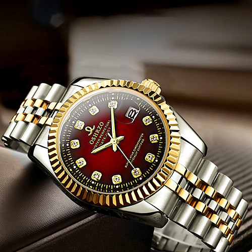 Муж. Нарядные часы Кварцевый Формальный Стильные Нержавеющая сталь Серебристый металл / Золотистый 30 m Защита от влаги Календарь Повседневные часы Аналоговый На каждый день Мода - / Один год фото
