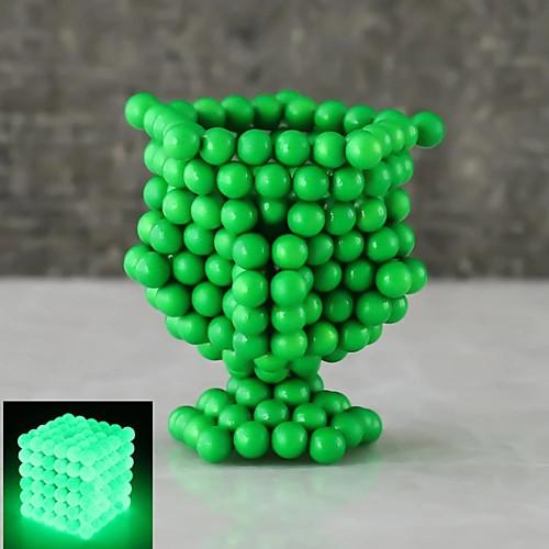 216 pcs 5mm Магнитные игрушки Магнитные шарики Конструкторы Сильные магниты из редкоземельных металлов Неодимовый магнит Неодимовый магнит Светящийся Сияние в темноте Стресс и тревога помощи фото