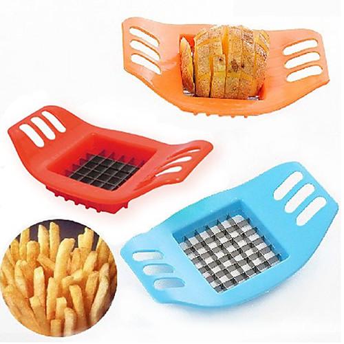 Картофель фри картофель фри вырезать резак овощной фрукты нож измельчитель измельчитель лезвие легко кухонные инструменты фото