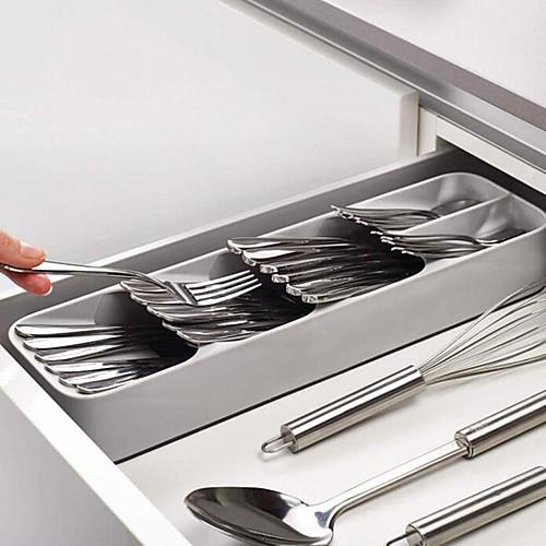 Кухонный ящик организатор лоток ложка столовые приборы разделение отделка ящик для хранения столовые приборы организация хранения кухня фото