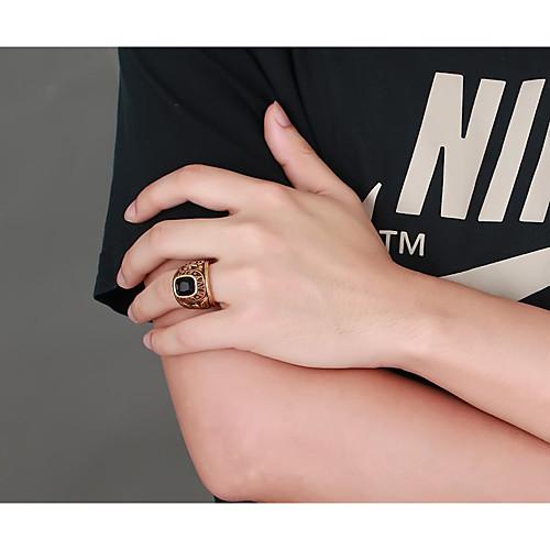lightinthebox / Homens Anel de banda Anel 1pç Dourado Aço Titânio Luxo Vintage Na moda Festa Diário Jóias Escultura Eagle