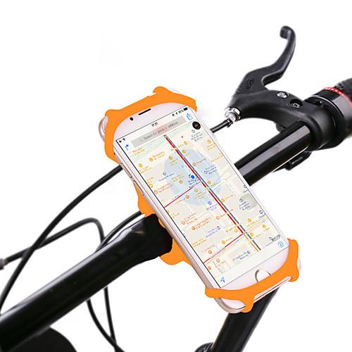 Крепление для телефона на велосипед Поворот на 360° для Шоссейный велосипед Горный велосипед Складной велосипед Силикон iPhone X iPhone XS iPhone XR Велоспорт Черный Оранжевый Зеленый фото