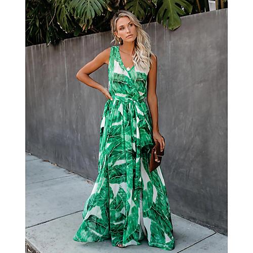 lightinthebox / Mujer Línea A Vestido Floral Geométrico Maxi