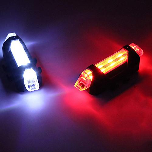 Светодиодная лампа Велосипедные фары Задняя подсветка на велосипед огни безопасности LED Горные велосипеды Велоспорт Велоспорт LED Перезаряжаемая батарея Перезаряжаемая батарея Белый Красный Синий фото