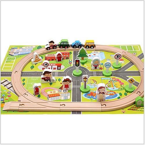 Устройства для снятия стресса Шлейф Специально разработанный моделирование Взаимодействие родителей и детей деревянный 1 pcs Поезд Детские Все Игрушки Подарок