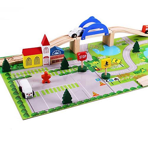 Устройства для снятия стресса Шлейф Специально разработанный моделирование Взаимодействие родителей и детей деревянный 1 pcs Поезд Детские элементарный Все Игрушки Подарок
