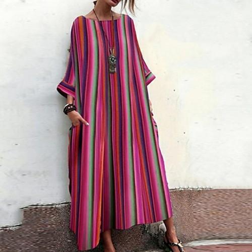 lightinthebox / Mujer Recto Vestido A Rayas Maxi