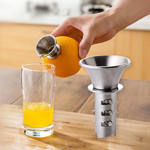 Из нержавеющей стали лимон соковыжималка лимон бурение кухонный инвентарь соковыжималка для фруктов соковыжималка фото