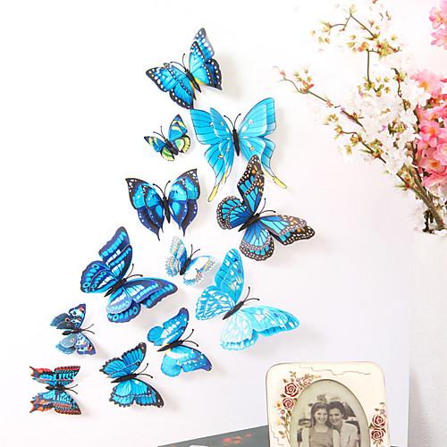 Животные двухслойные наклейки на стены 3d наклейки на стены декоративные наклейки на стены выключатель света наклейки наклейки на холодильник свадебные наклейки пвх домой - синий фото