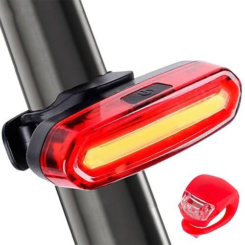 Светодиодная лампа Велосипедные фары Задняя подсветка на велосипед огни безопасности LED Велоспорт Велоспорт LED Перезаряжаемая батарея Перезаряжаемая батарея Белый Красный Синий фото