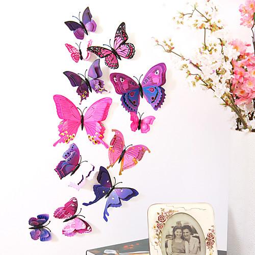 Животные двухслойные наклейки на стену 3d наклейки на стену декоративные наклейки на стену выключатели света наклейки на холодильник свадебные наклейки пвх домой - фиолетовый фото