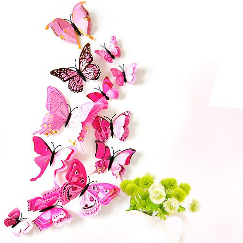 Животные двухслойные наклейки на стену 3d наклейки на стену декоративные наклейки на стену выключатели света наклейки на холодильник свадебные наклейки пвх домой - розовый фото
