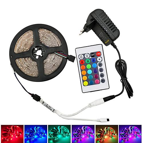 Светодиодные фонари 12v smd 5050 rgb светодиодные ленты светодиодные ленты разноцветные с дистанционным управлением с 44 клавишами фото