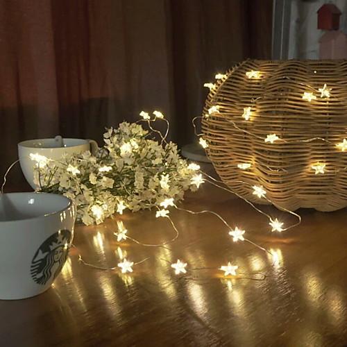 2м Гирлянды 20 светодиоды Тёплый белый Декоративная 5 V 1 комплект фото