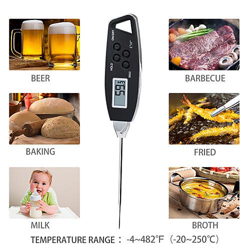 Кухонная игла электронный пищевой термометр прецизионный измеритель температуры молока измеритель температуры барбекю водонепроницаемый термометр фото