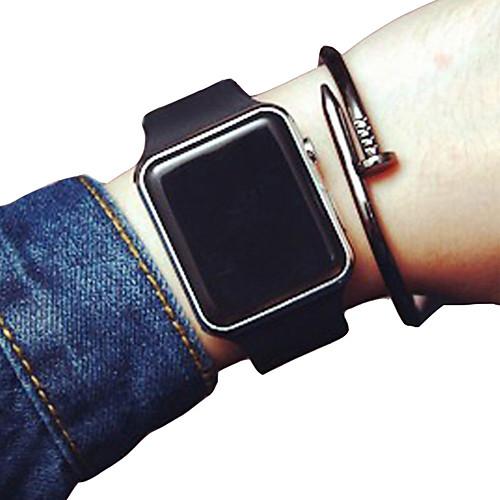 Муж. Спортивные часы Цифровой силиконовый Черный / Белый Нет Секундомер Новый дизайн Фосфоресцирующий Цифровой На каждый день Новое поступление - Черный Золотой белый Розовое золото фото