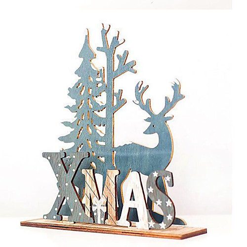Натуральный рождественский лось ремесло елочное украшение ноэль новогоднее украшение для дома деревянная подвеска фото