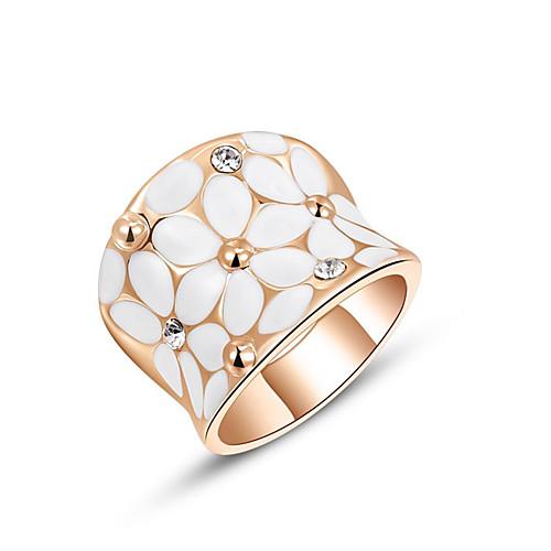 Винтаж австрийский хрусталь женские кольца свадьба розовое золото цвет цветок горный хрусталь кольца для женщин дамы широкие кольца из циркона r2 фото