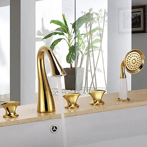 Смеситель для душа - Современный На стену Керамический клапан Bath Shower Mixer Taps фото