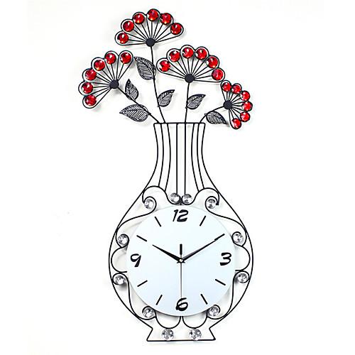 Современный минималистский сад ваза настенные часы гостиная большая европейская творческая личность часы бесшумные кварцевые часы домашнего декора фото