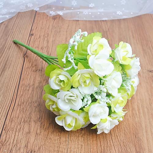 Искусственные розы маленькие розы украшение дома цветочная композиция свадебные розы фото