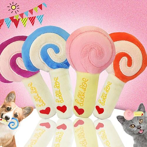 Плюшевые игрушки Игрушки с писком Коты Животные Игрушки 1шт Подходит для домашних животных Плюш Подарок фото