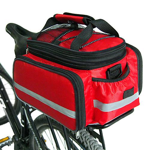 FJQXZ Сумка на багажник велосипеда / Сумка на бока багажника велосипеда Сумки на багажник велосипеда Большая вместимость Водонепроницаемость Регулируемый размер Велосумка/бардачок Нейлон фото