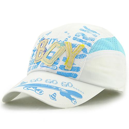 Универсальные Классический Бейсболка Хлопок,Цветочный принт Все сезоны Светло-синий Белый Тёмно-синий фото