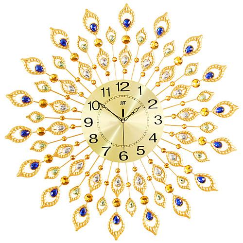 Роскошный искусственный кристалл алмаза большие настенные часы металлические гостиной настенные часы украшения дома искусства фото