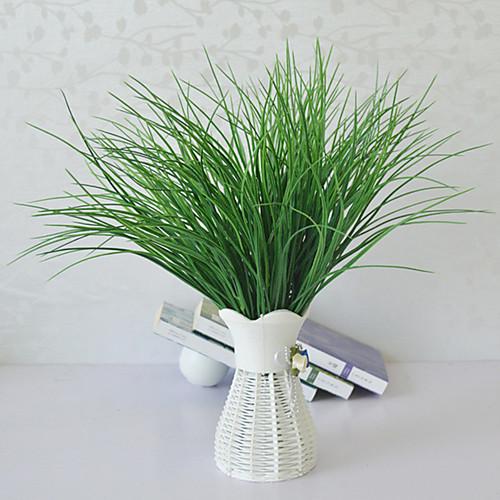 Моделирование весенняя трава высококачественный поддельный цветок вода трава v-образная трава зеленая посадка цветочная композиция с травой фото
