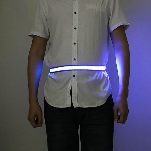 LED подсветка / Светодиодный Светоотражающий Пояс 1 шт. Светящийся / Регулируется Текстиль для Бег / Велосипедный спорт / Беговая Белый / Красный / Синий Батарея с батарейкой фото
