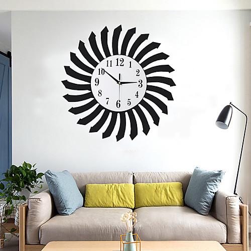 Модные деревянные настенные часы металлическая гостиная настенные часы украшения дома искусства а. фото